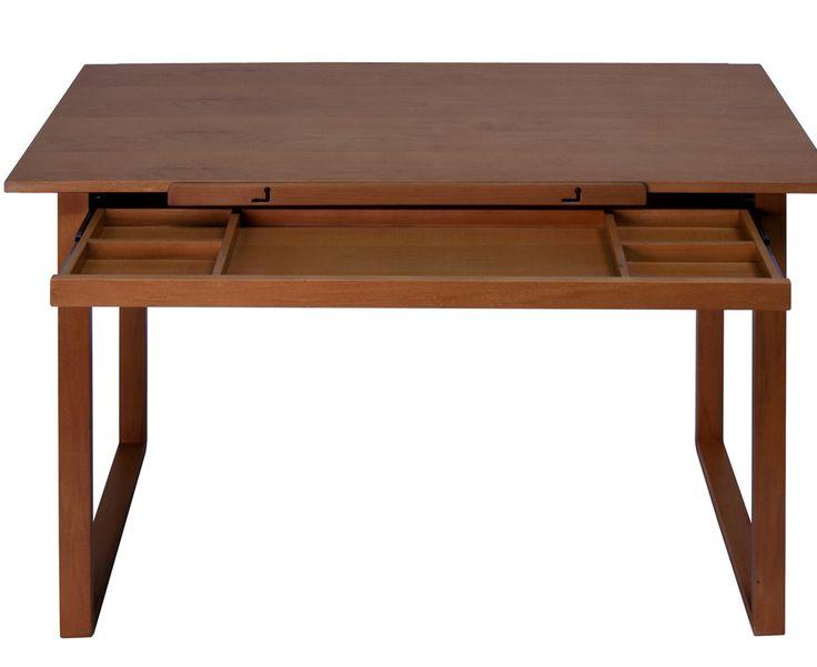 Ponderosa Wood Drafting Table
