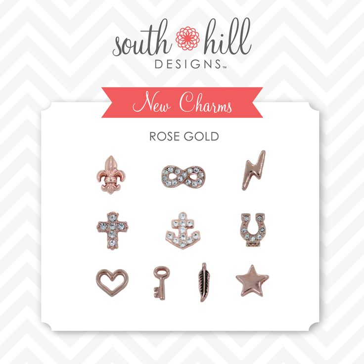 Love the rose gold charms from South Hill Designs http://www.southhilldesigns.com/faithncharms