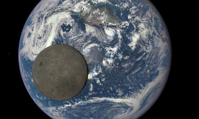 Dark side of the moon captured by Nasa satellite a million miles from Earth | Science | The Guardian