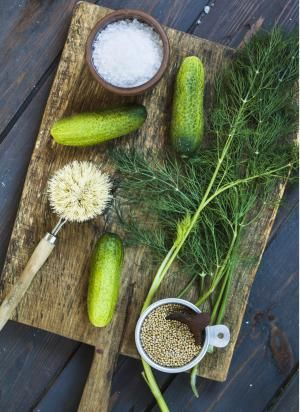 Pucker Up with Authentic German Pickles You Make at Home: Gherkins, dill, salt and mustard grains