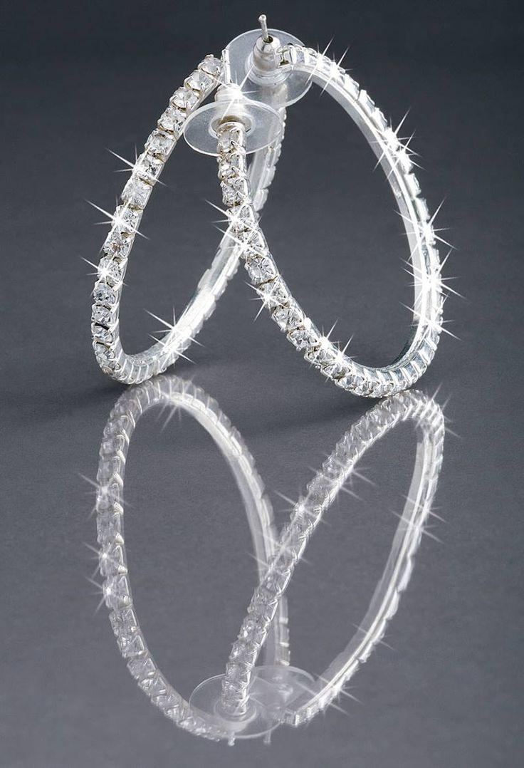 Rhinestone Hoop Dance Earrings  Balera™