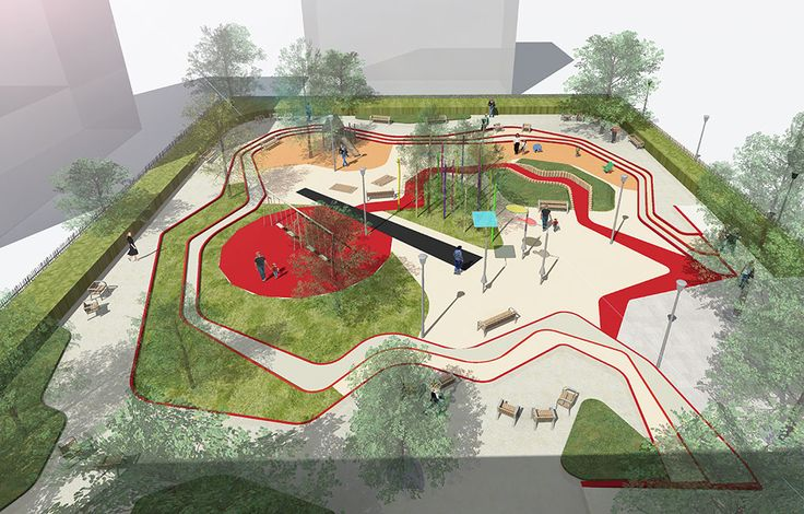 Aire_de_jeux_Espace_Libre26 « Landscape Architecture Works | Landezine A Toddlers Playground by Espace Libre Landscape Architecture: Espace Libre Location: Alfortville Design Year: 2013 Year of Construction: 2014 Area: 2500 m² Budget: 400 000 euros