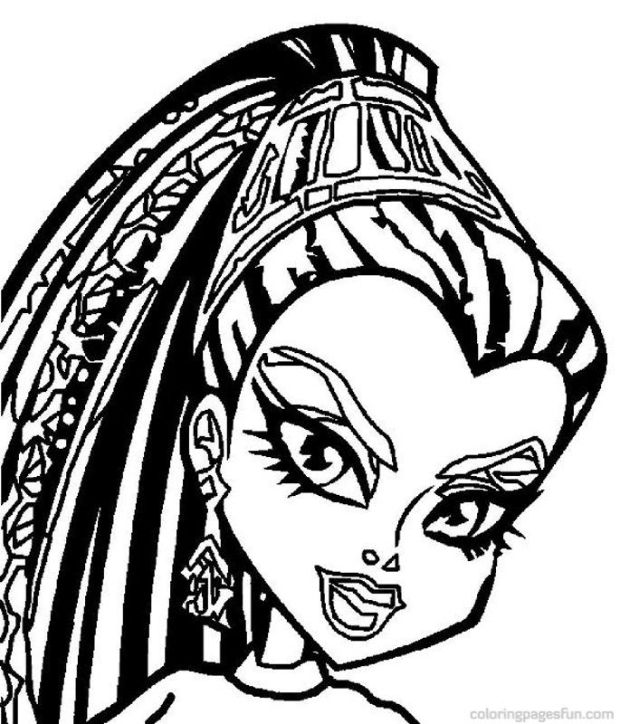 Monster High Nefera De Nile Coloring Pages