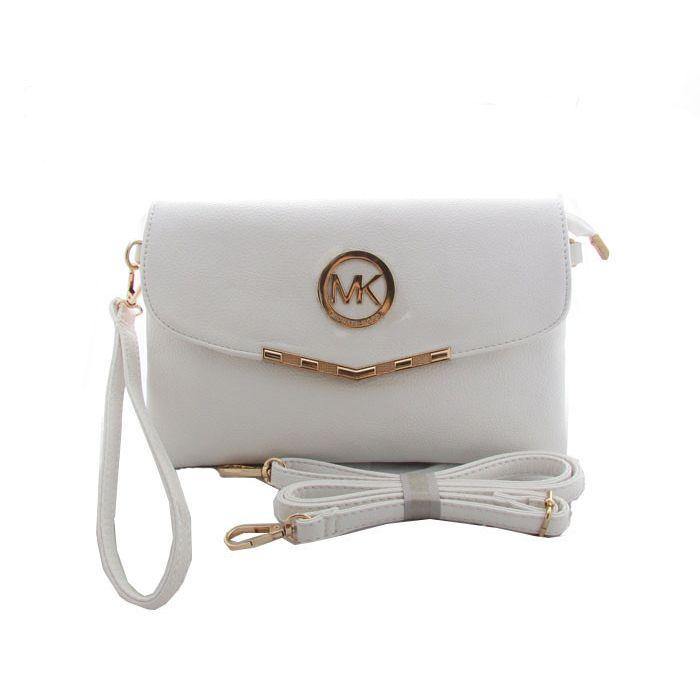 Michael Kors Outlet Fulton Messenger Small White Crossbody Bags