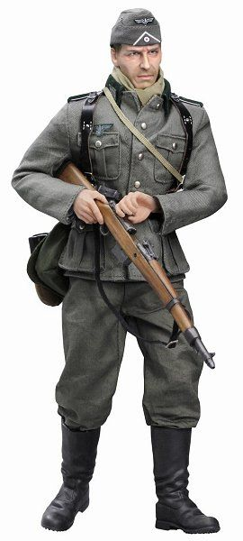 Dieter Muller (Shutze) Wehrmacht-Heer Infanterie Regiment 23 (East Prussia 1941) Action Figure. It is made by Dragon and is 1:6 scale (approx. 30cm / 11.8in tall).    This item is one of Dragon's award winning line of highly detailed and historically accurate action figures and accessories. The series include numerous titles from WWII including U.S. , German, British and Russian forces as well as many modern military and movie titles. Each figure has its own name, unique headsculpt and…