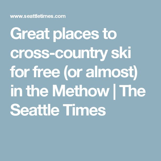 Great places to cross-country ski for free (or almost) in the Methow