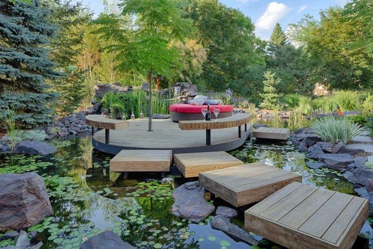 Bassin de jardin 25 id es pour rafra chir votre ext rieur d co et design for Bassin design