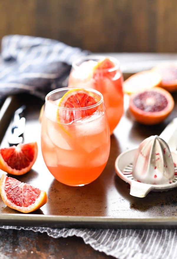 Blood Orange Sangria - Whip up this party-perfect big batch cocktail with just four simple ingredients! | foxeslovelemons.com