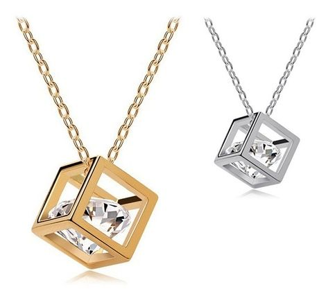 "Material: Gold Plated 2 Colors available: Golden, Silver Pendant size: approx.0.7 x 0.7cm(L x W) Necklace Length: approx. 40cm/15.6"" Stretching Length: approx.5cm/1.95"" Style: Trendy Necklace Type: Pendant Necklaces Suitable for self, beautiful gift for friends and your love one. SV000329"