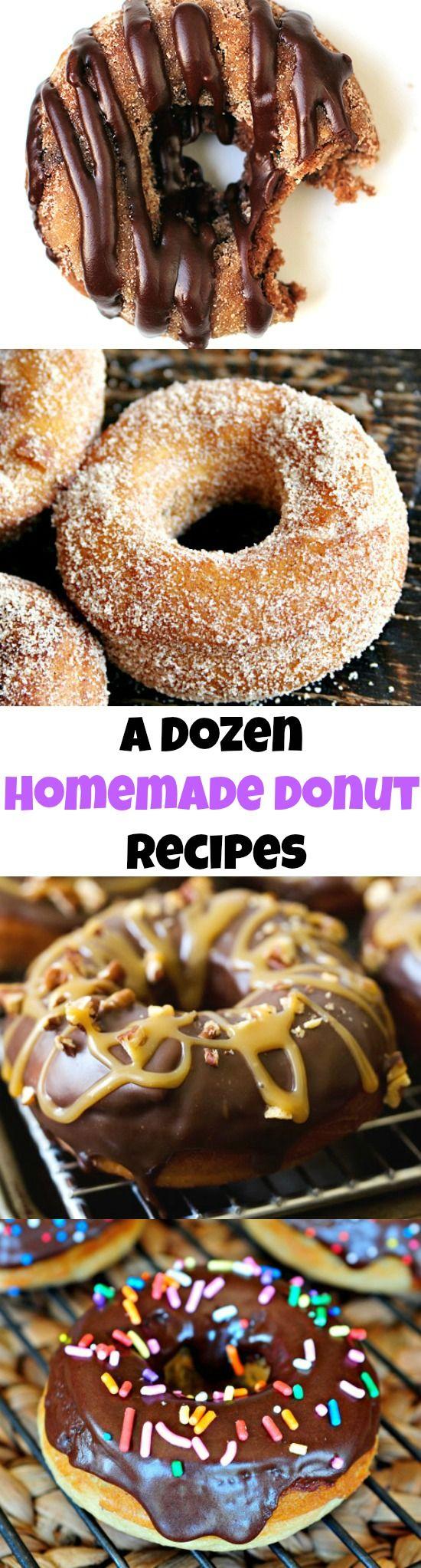 A Dozen AMAZING Homemade Donut Recipes!