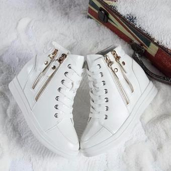 Giày Sneaker Nâng Đế Cao Cổ 2 Khóa (đen) | Lazada.vn
