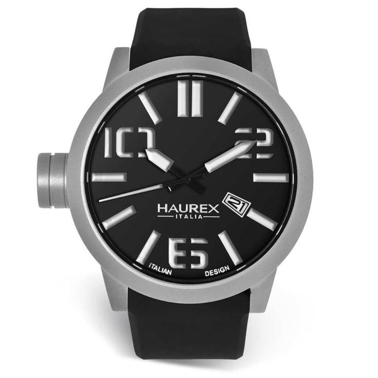 Haurex Turbina horloge zwart €109,-  http://www.kish.nl/Haurex-Turbina-PN377UN2-horloge/