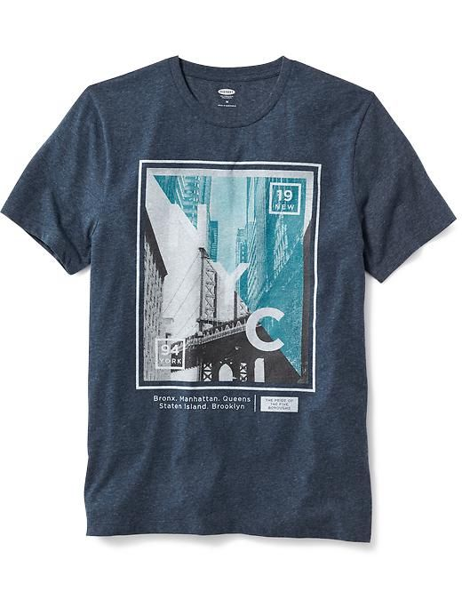 Short-Sleeve Graphic Tee for Men Product Image