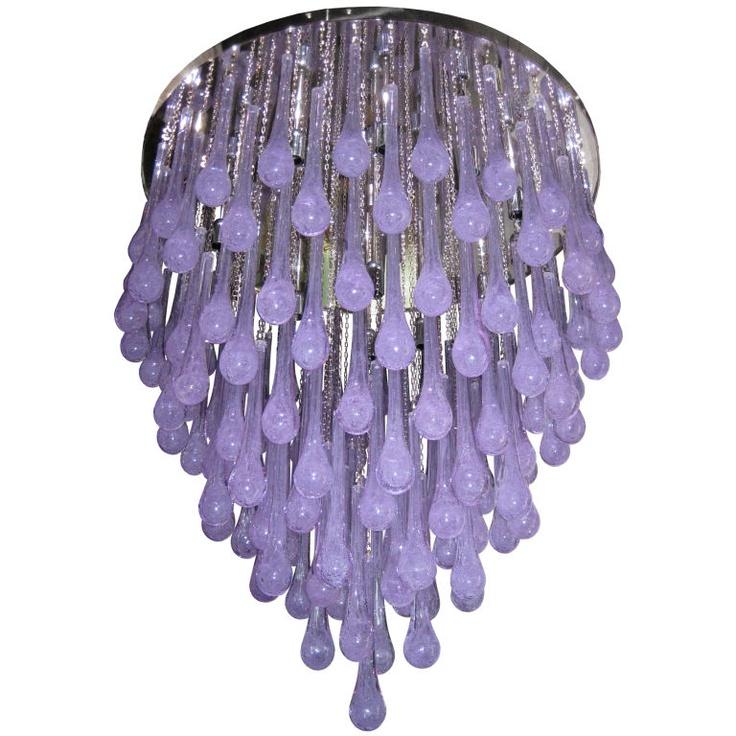 39 best chandeliers pendants images on pinterest chandelier toso large amethyst glass teardrop chandelier aloadofball Images
