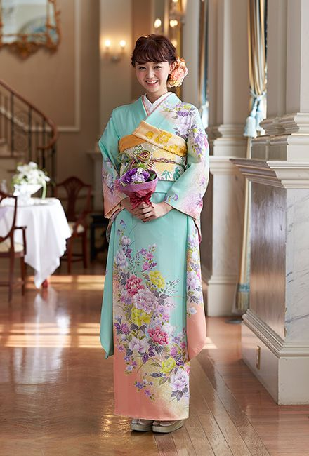 NO.1657 正絹 京友禅|成人式の振袖販売、振袖レンタルの京都きもの友禅