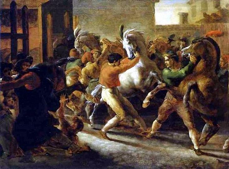 «Бег свободных лошадей» (1816—1817, Лувр), Жерико