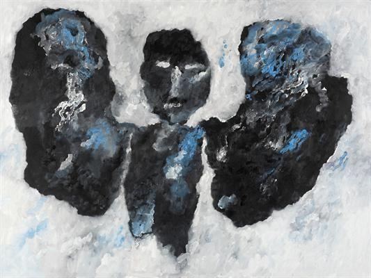 Armando (1929), Der Engel, 2011, 150x200 cm