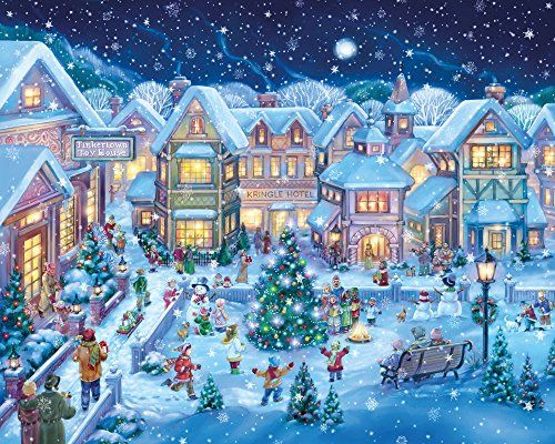 Holiday Village Square Christmas Jigsaw Puzzle 1000 Piece Vermont Christmas Company http://smile.amazon.com/dp/B00OKGUF7I/ref=cm_sw_r_pi_dp_bw5xwb037JTCS