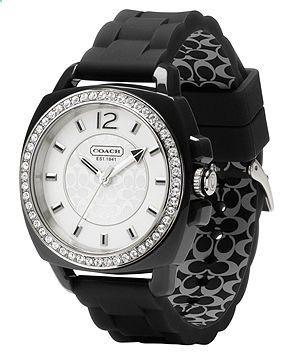 COACH BOYFRIEND SILICON RUBBER STRAP WATCH - All Watches - Jewelry Watches - Macys