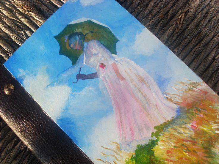 Woman with a parasol - Notebook
