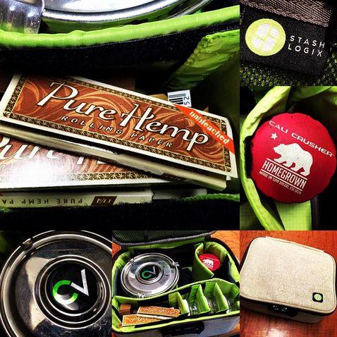 Diggin' the new STASHLOGIX bag! Thanks Skip! #purehemp #thecvault #calicrusher #stashlogix #homegrown #cannabis