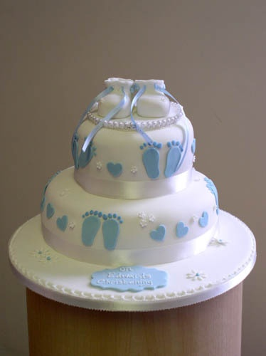 christening-2 tier blue feet lo res, via Flickr.