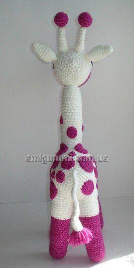 жираф-амигуруми