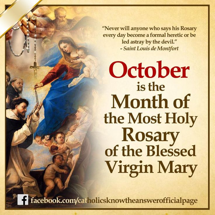 Month of Mary Catholic | THE MONTH OF THE ROSARY | Christ Lives! In Him I Trust!