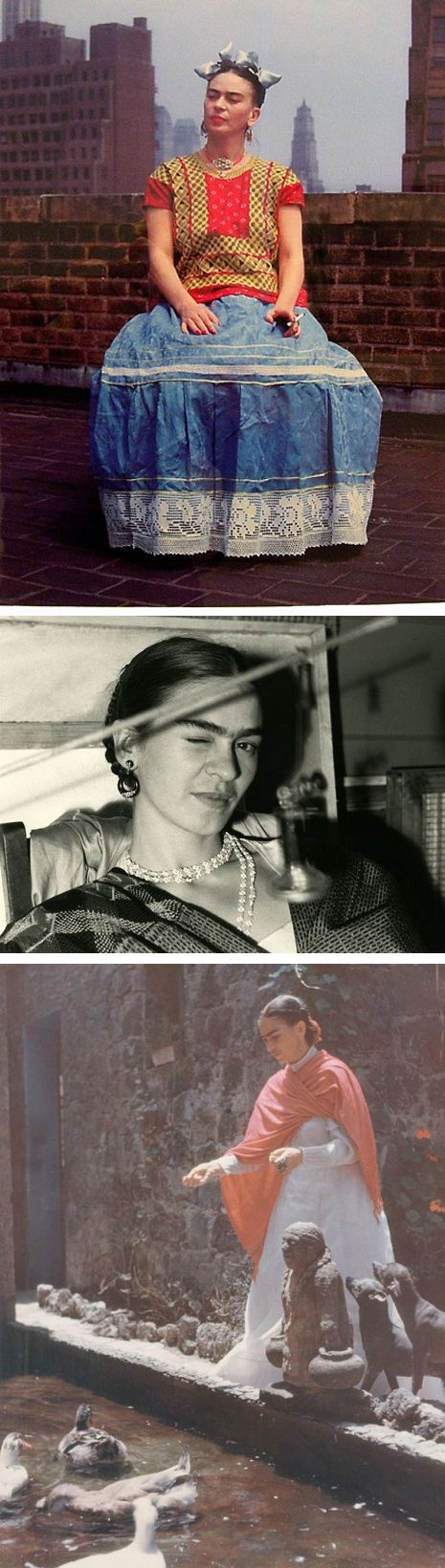 Check out this rare intimate collection of photographs featuring Frida Kahlo in love, in pain, and with her pets.