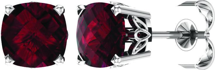 14kt white Mozambique Garnet earrings. Find them at a jeweler near you: www.stuller.com/locateajeweler #ColoroftheYear #marsala #pantone