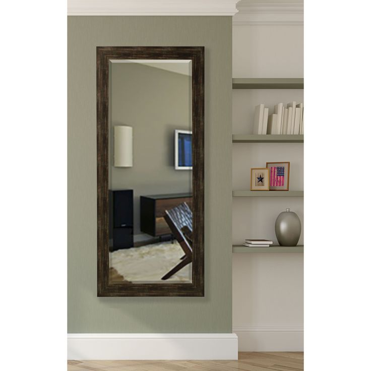 American Made Rayne 30.5 x 71-inch Brushed Classic Extra Tall Mirror