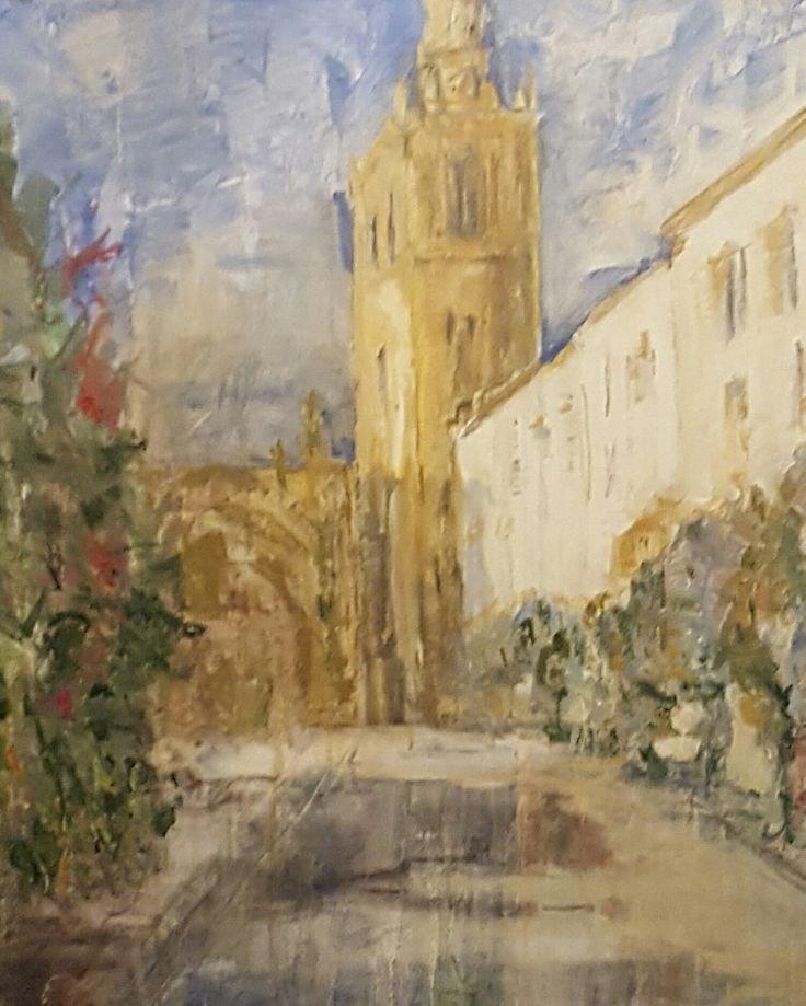 #arte #arte contemporaneo #pintura figurativa #pintura #cuadros #piedybores #sevilla #giralda #catedral