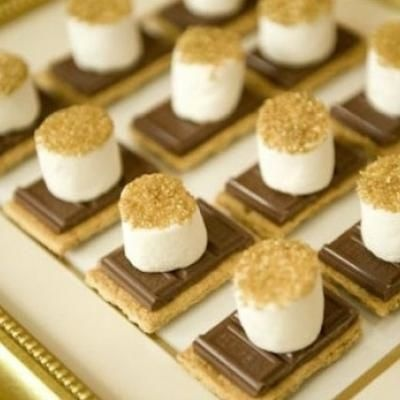 mini appetizers for kids: Desserts, Gold Glitter, S More, Eve Parties, Holidays, Parties Ideas, New Years Eve, Marshmallows, Smore