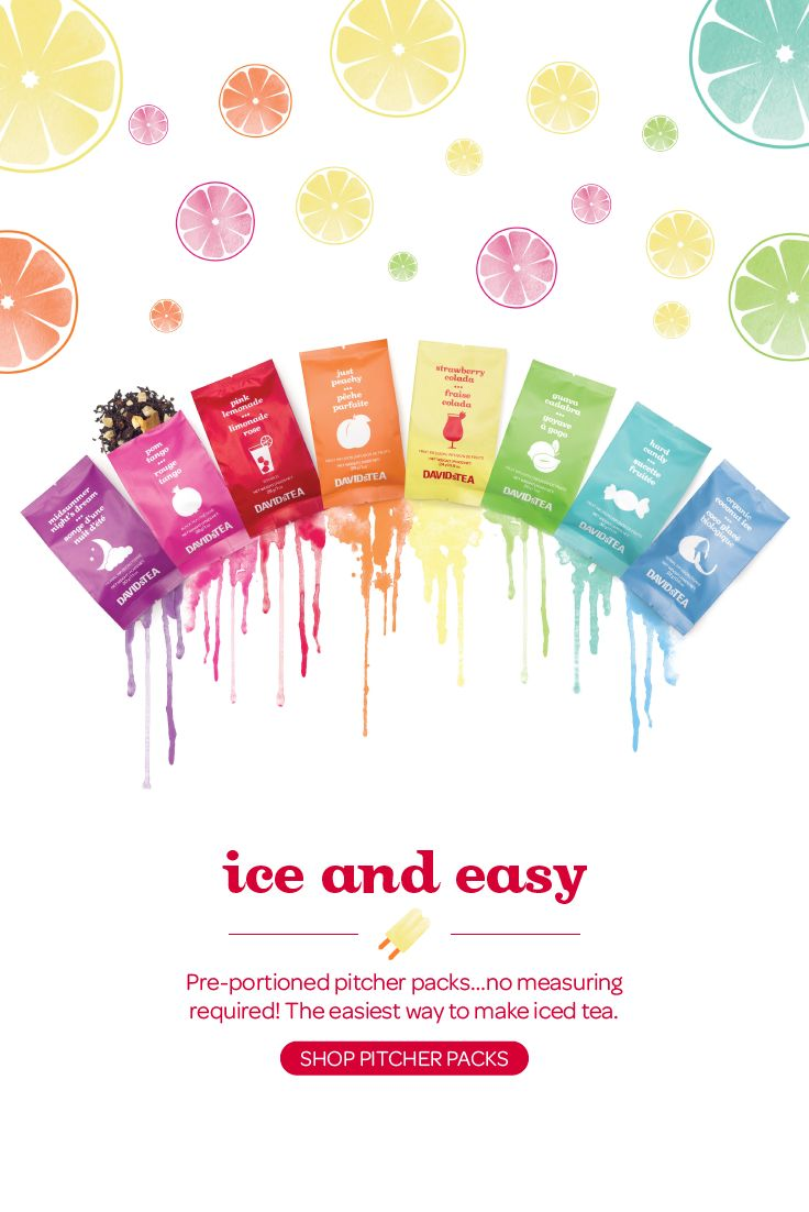 Handy little packs that contain the perfect amount of tea for one pitcher of iced tea.