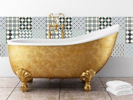 cr dence adh sive c ramique salle de bain carreaux. Black Bedroom Furniture Sets. Home Design Ideas