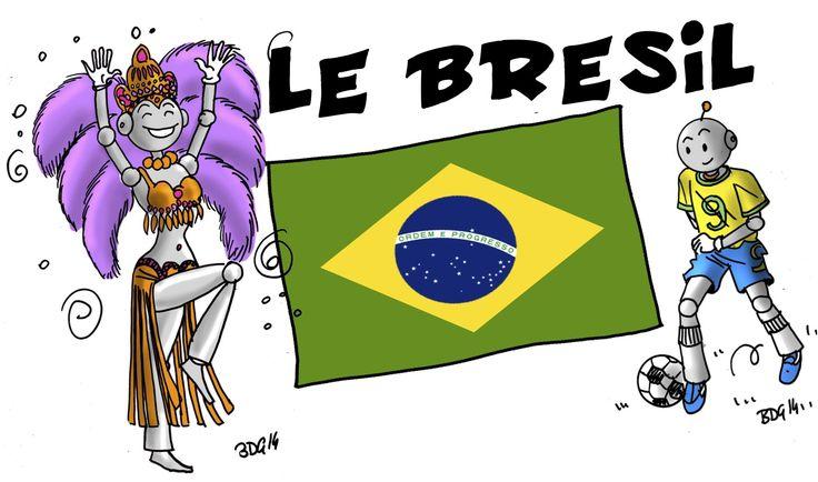 Le Brésil (Etape 10 du loup ) en lien avec l'album : Le Loup qui voulait faire le tour du monde : ici C'est d'actualité , n'est ce pas ! Et comme je veux en faire la surpr…