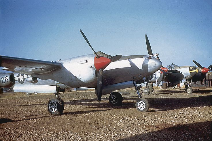 P-38 Lightning aircraft of USAAF 449th Fighter Squadron, China, 1945