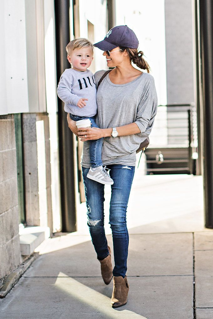 LOOK I: SUEDE ANKLE BOOTIES (SIMILAR HERE) | WHITE BLAZER (SIMILAR HERE) | TAN BOYFRIEND TEE  | BLACK DENIM | CELINE HANDBAG LOOK II: SUEDE ANKLE BOOTIES (SIMILAR HERE) | GREY TOP | DISTRESSED SKIN…