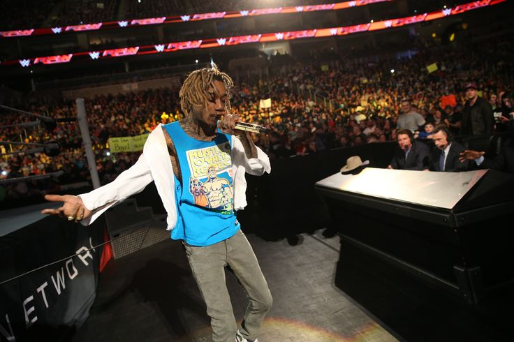 Wiz Khalifa performing Live! at WWE Raw