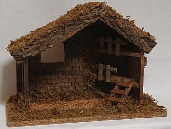 Bethlehem Stable | ... wooden christmas stable medium wooden stable for nativity set well