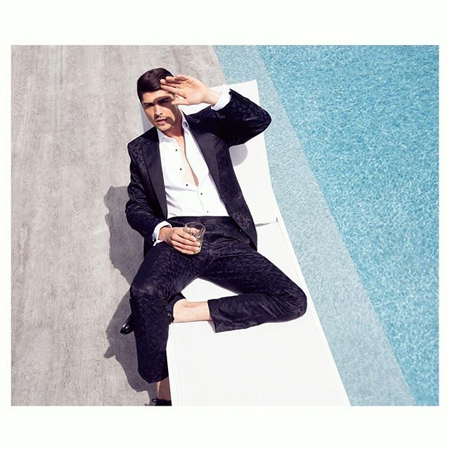 Loving @denizenmagazine 's new issue out now. It features a great selection of our black tie formalwear in their photoshoot with the talented @oliviahemusphoto.  #workingstylenz #wearingworkingstyle #blacktie #tuxedo #camoflage #poolside