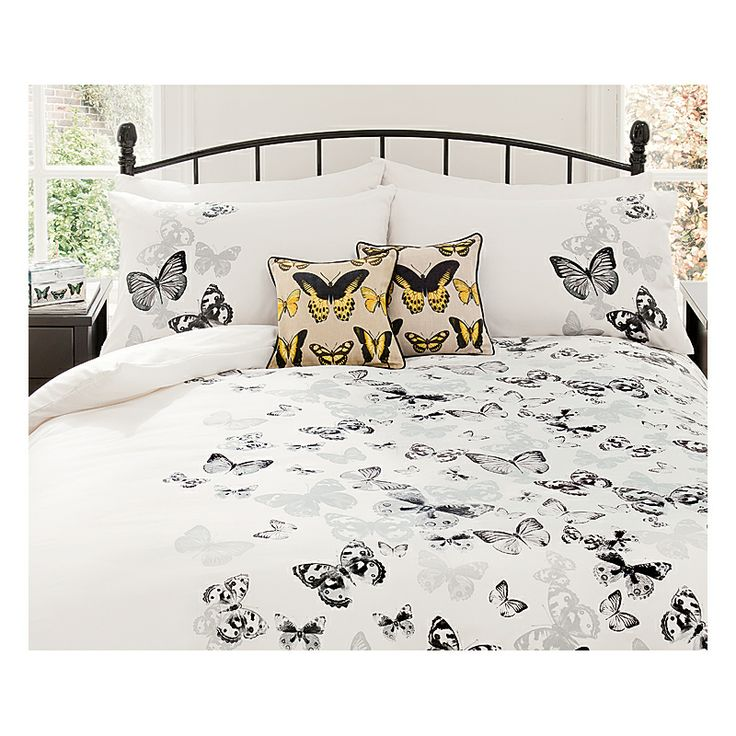 George Home Monochrome Butterfly Duvet Set