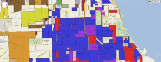 Chicago Gangs on Google Maps (from Google Maps Mania)