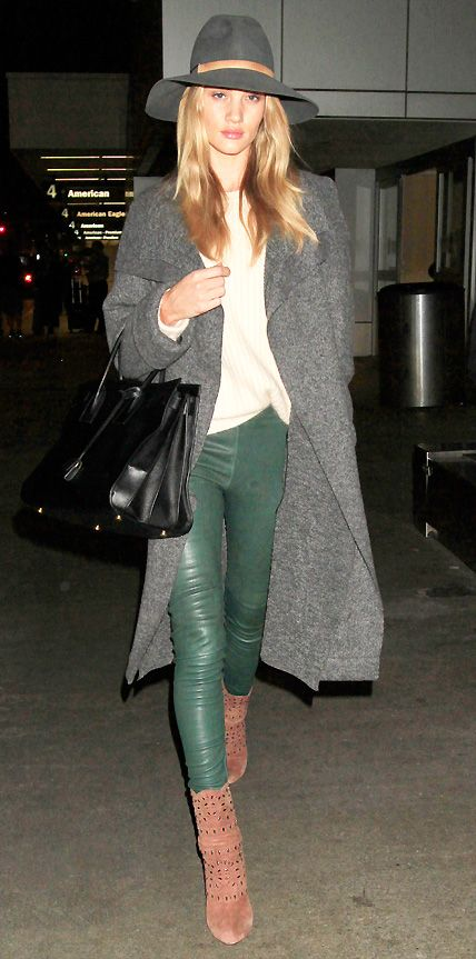 Celebs Bundled Up: Rosie Huntington-Whiteley #InStyle