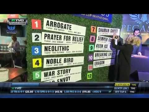 Post Position Draw for the 2017 Pegasus World Cup - Horse Racing News videos