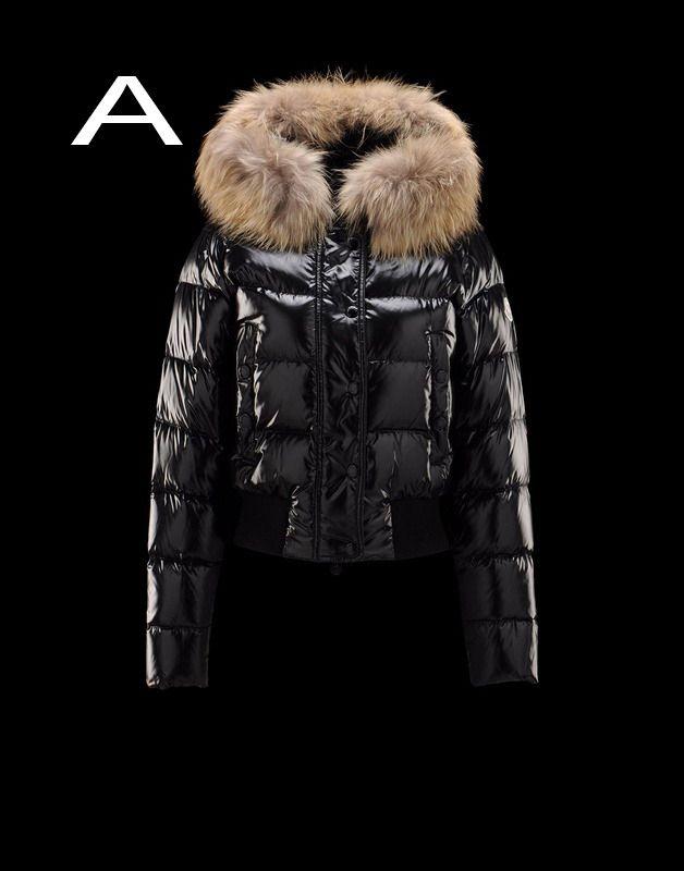 56f2286ed4 Moncler Alpin Women Detachable Real Fur Collar Hood Jacket Black Hot Sale