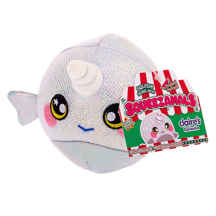 Squeezamals™ Scented Narwhal Soft Toy Narwhal plush