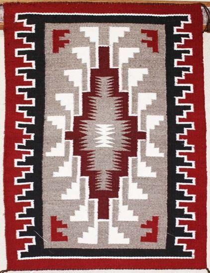 "Ganado Navajo Rug - Native American Handwoven Rugs   Vintage Rugs For Sale #NavajoRug For Sale  Just @ $330.00 on FoutzTrade.com   Klagetoh rug by Navajo weaver Lula Benally: 21"" x 28""      #NavajoRugs #NativeAmericanRug #NavajoCrafts #Artworks #NavajoWeavings #NativeAmericanWeavings #Traditional #NavajoCulture #NavajoIndianTribe #IndianAmerican #SouthWestern #Navajomade #Handcrafted #Handmade"
