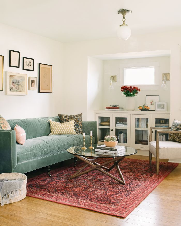 Step Inside An Actress S Cozy And Eclectic Living Room Eclectic Living Room Craftsman Living Rooms Grey Furniture Living Room