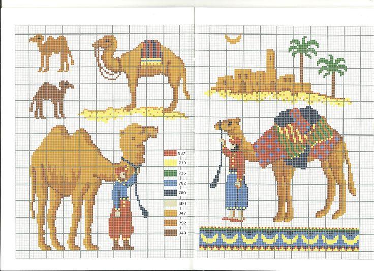 chameau * point de croix * cross stitch camel